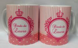 Par de Canecas de Porcelana Padrinho / Madrinha