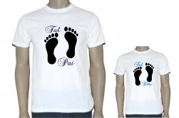 """Kit Camisetas """"Tal Mãe Tal Filho"""" / """"Tal Pai Tal Filho"""""""