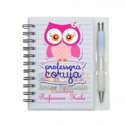 Bloco de Anotações Personalizado com Caneta - Dia dos Professores