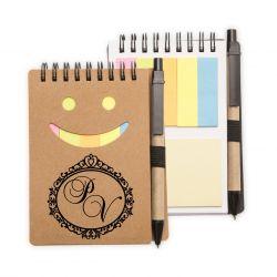 45 Blocos de Anotações Smile com caneta Personalizado