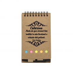 15  Blocos de Anotações com caneta Personalizado